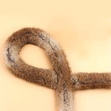 DIY аксессуары пушистый пуховик лента искусственный мех кролика ленты отделка для шитья пушистый костюм