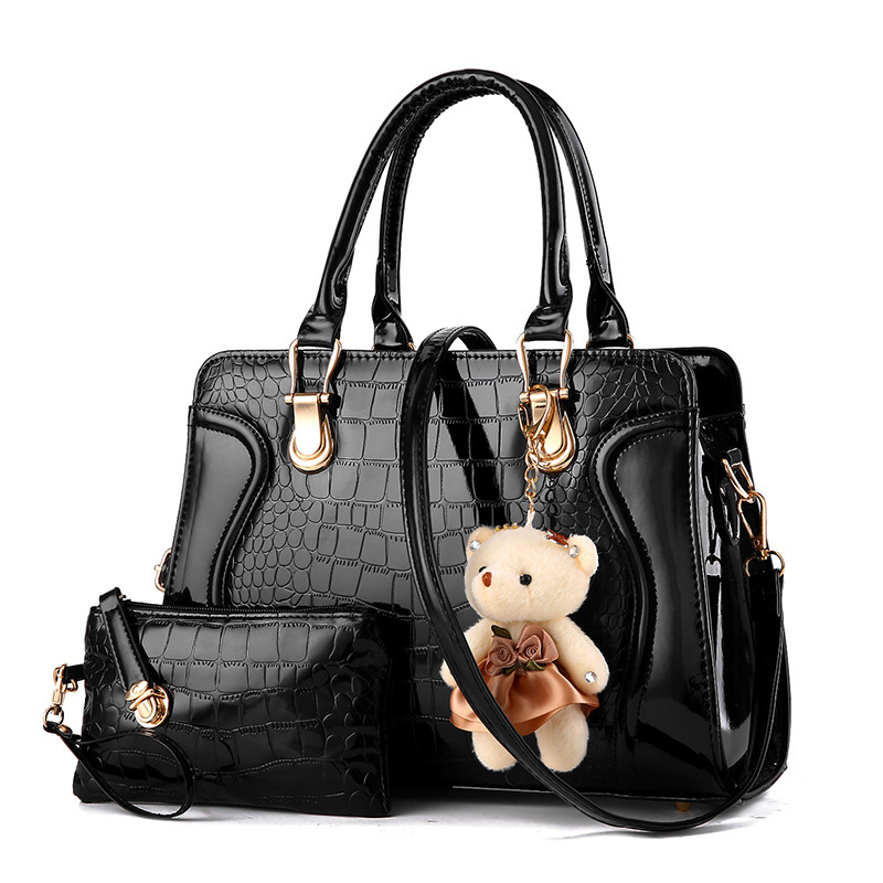 ФОТО Women Leather Famous Brand Tote Shoulder Bag Luxury New Arrival Composite Bag Designer Handbags Office Hand Bag