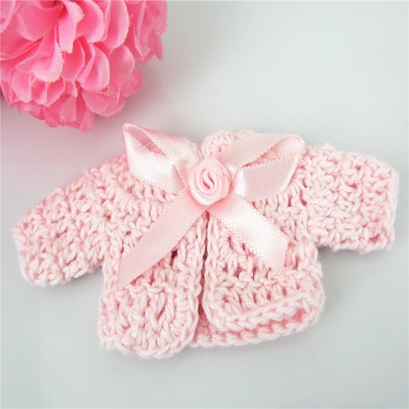 ⊰Envío libre 12 miniatura ganchillo flor cinta baby shower bautismo ...