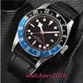 Sterile zifferblatt 2019 Neue Luxus Uhr Mode Edelstahl Uhr für Mann automatische Analog Armbanduhr Orologio Uomo Heiße Verkäufe-in Mechanische Uhren aus Uhren bei