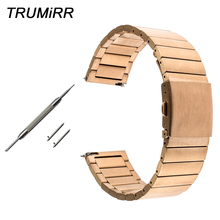 22mm Stainless Steel Watchband + Quick Release Pins for Diesel Men Women