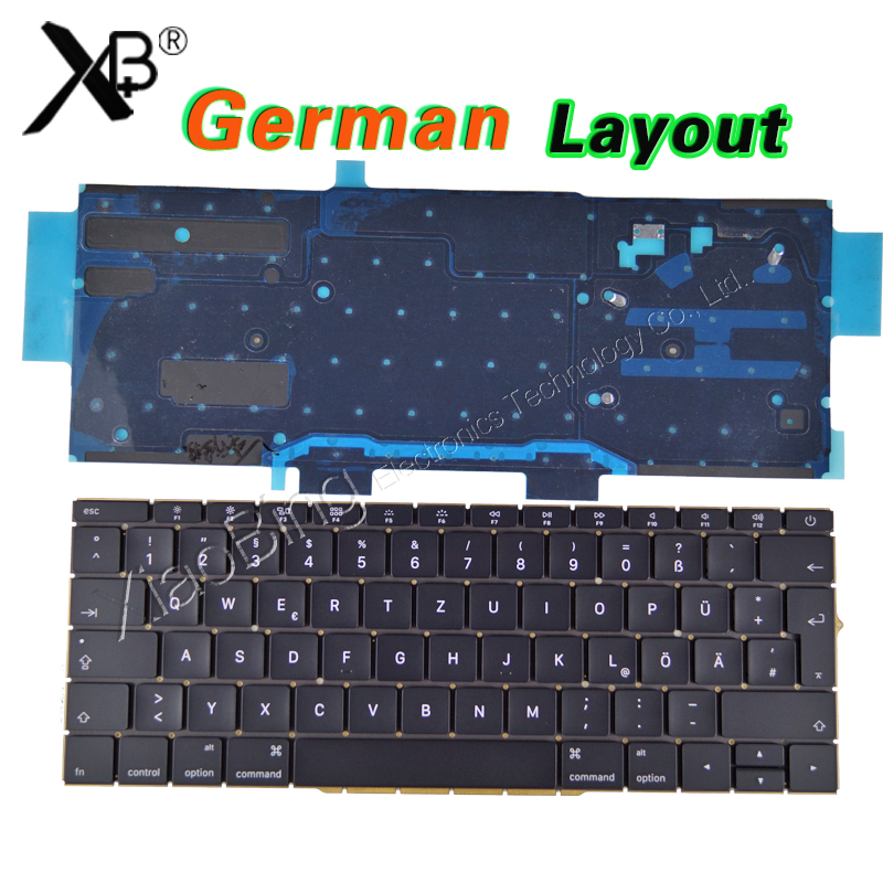 NEW Laptop A1708 Germany GR Keyboard for Macbook Pro Retina 13 A1708 German DE Keyboard Backlight