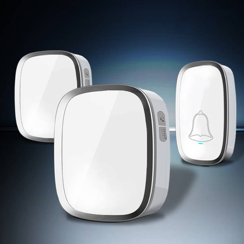 2017 EU/US Plug Waterproof Wireless Door Bell with 1 Outdoor Bell Button Transmitter+2 Indoor Receiver Led Home DoorBell 220V saful wireless door bell waterproof push button doorbell with 1 indoor wireless doorbell receiver and 1 outdoor transmitter