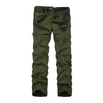 2018 Spring New High Quality Cotton Ubrania Meskie Loose Plus Size Cargo Pants Military Style