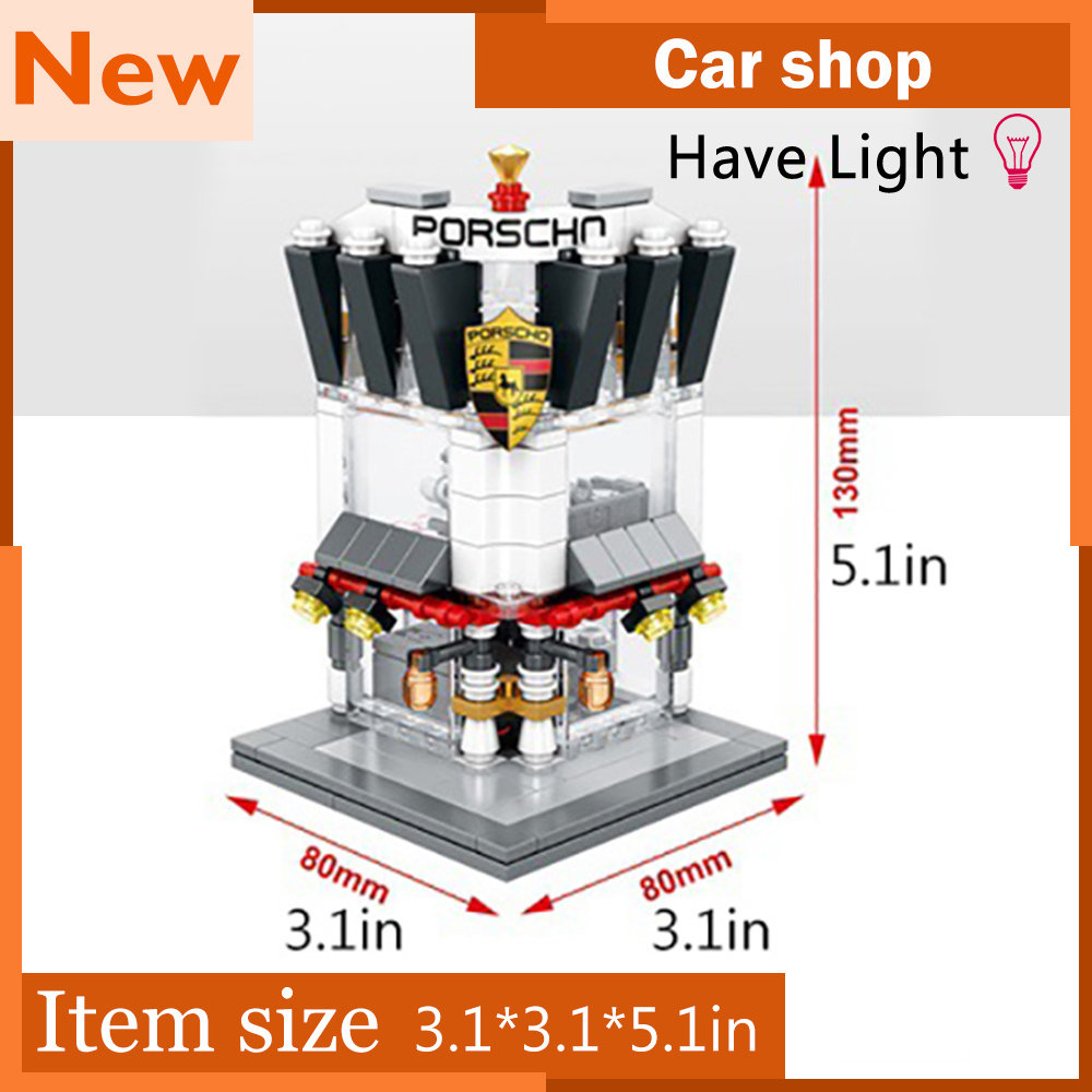 Mutiple styles Mini Blocks City Street building blocks bricks toys MOC with lights compatible with legoe city Toys for children city architecture mini street scene view reims cathedral police headquarters library fire departmen building blocks sets toys