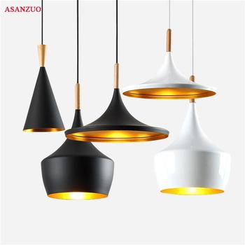 Nordic Pendant Lights For Home Lighting Modern Dining Musical Instrument ABC Hanging lamp Wooden Aluminum Lampshade