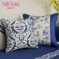 Avigers Luxury Jacquard Stitching Cushion Cover Pillowcase Chinese Painting Geometry Modern Home Decorative Sofa Throw Pillow