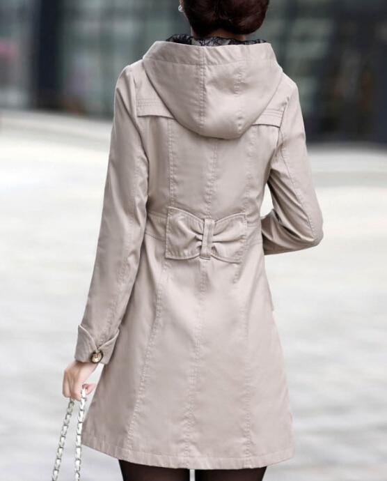 Women Ladies v neck Long Fall long Spring Coat Outwear Jacket ...