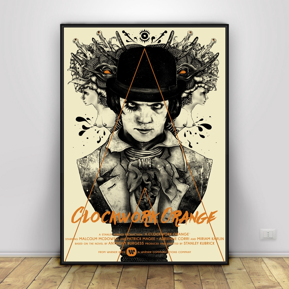 A Clockwork Orange Art Silk Poster Home Decor 12x18 ... A Clockwork Orange Painting
