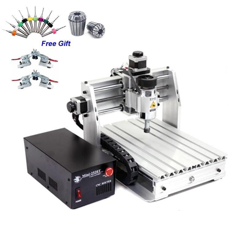 Moins cher CNC routeur bois Mini 2520 T 200 W broche Machine de gravure