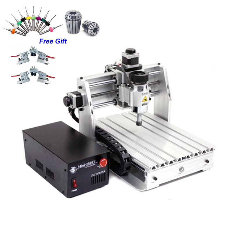 Moins cher CNC routeur Mini 2520T 200W broche gravure sur bois Machine