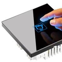 1pcs Smart home sensor touch sensor small switch socket 86 intelligent touch open a single control switch panel