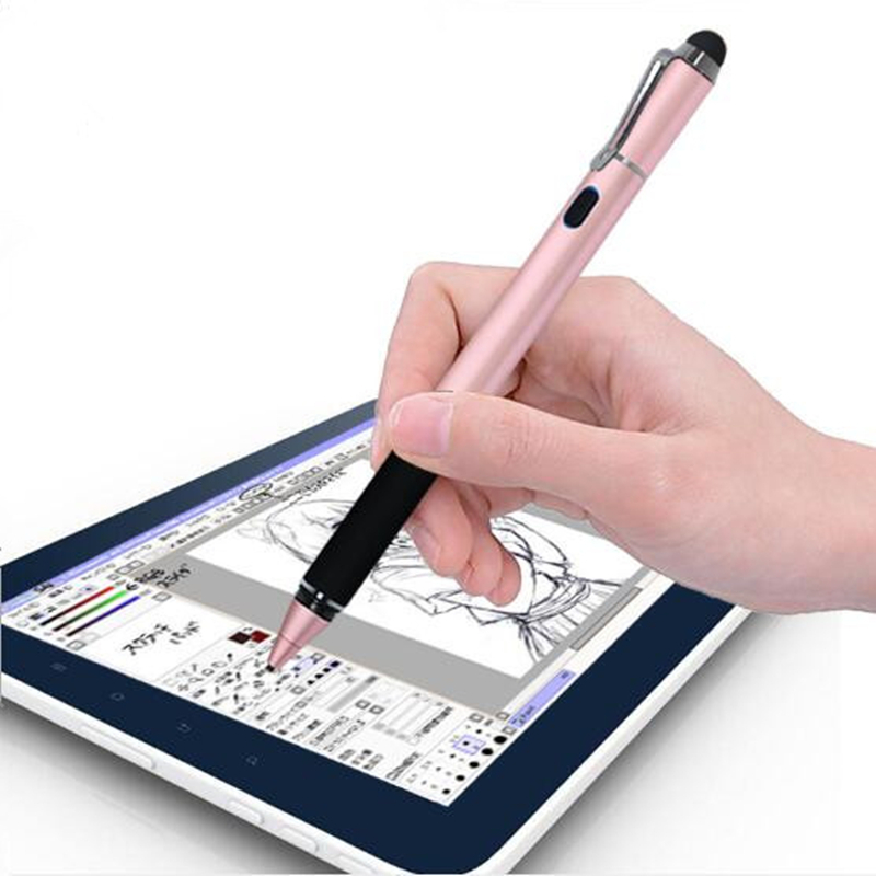 2 In 1 High Precision Active Stylus Pen For Ipad For Android Phone Tablet Pencil For Iphone Drawing For Xiaomi For HUAWEI