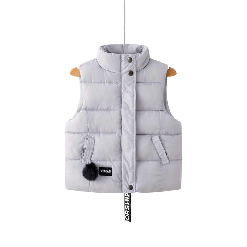 Colete bebê Outono infantil Criança roupas de inverno Crianças meninas Corações vermelhos imprimir colete de algodão meninos colete de inverno para 1- 8 anos