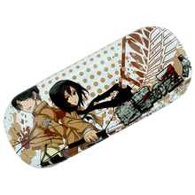 Anime Attack on Titan Cartoon Logo PU Leather Glasses Box Spectacle Case Eyeglasses for children #41