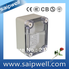 Saipwell IP66 ABS Material wall mounted Clear Cover waterproof enclosure box DS-AT-0609