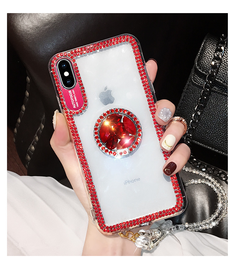HTB1rHzLMSzqK1RjSZFLq6An2XXaW Luxury Bling Glitter With Finger Ring Case For iPhone X 8 7 6 6S Plus XR XS 11 Pro Max Cover Fashion Diamond Soft TPU Phone Case