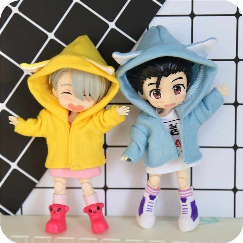 Kitten hat coat for Obitsu11 OB11 1/12 doll available for cu-poche OB11 accessories doll
