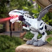 Динозавр игрушки для детей игрушки Спрей Электрический динозавр с легким звуком механические птерозавры динозавры модель игрушки для детей