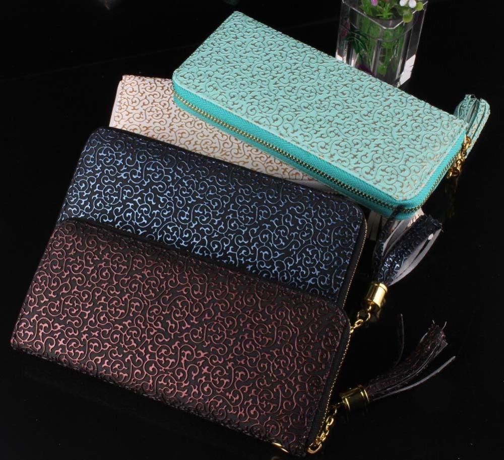 High Quality Women Clutch Hot Sale Fashion Purse Vintage Pattern Women Wallets,Carteira Feminina Long Design Brand Wallet