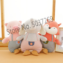 33cm Elephant Pig Hippo Fox Cute Kawaii Animal Doll Soft Plush Toy Quality Baby Sleeping Birthday Gift Girl Child Comfort