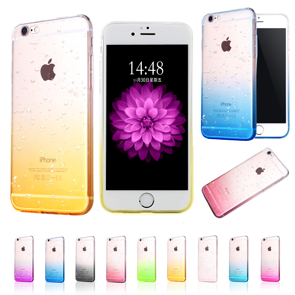 Transparent Water Drop Crystal Back Case for iPhone 5 5se i6 6s 6plus Silicone 3D Rain Drop Clear TPU Fashion Luxury bag Cover