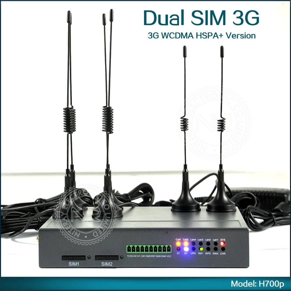 Direkter Verkauf Der Fabrik H700p Industrial Wireless 3g Dual Sim Router Sim Slot Zwei Modem Wcdma Cdma Wifi Router Oem Verfügbar
