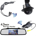 """2.4G Wireless 4.3"""" Colorful Tft Auto Mirror Monitor 12v Screen For DVD Car Backup Rear View CAM Universal Reverse Parking Camera"""