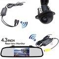 """2.4G Wireless 4.3 """"Pantalla de colores Tft Monitor del Espejo de Auto 12 v Para DVD Del Coche CÁMARA Universal de Visión Trasera Cámara del Revés del Estacionamiento de Copia de seguridad"""