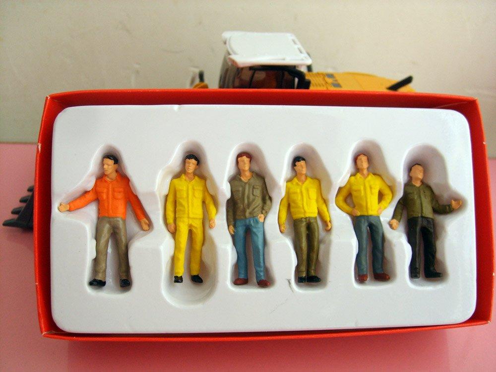 1:50 строительные фигурки рабочих с цветом