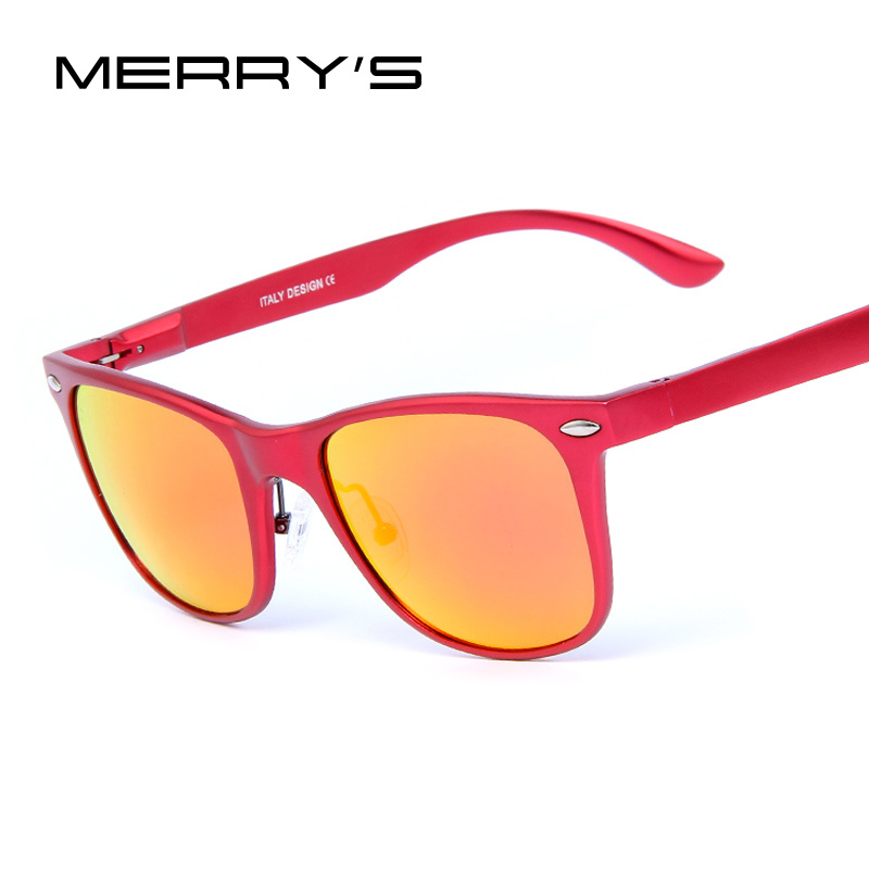 MERRY'S Men Classic Luxury Brand  Sunglasses Polarized Mirror Sunglasses Aluminum Alloy Men/Women Glasses With Case