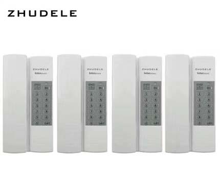 Zhudele New Arrival Safe&comfortable Home Interphone,4-handles Audio Intercom System W/t Broadcast/group Call,unlock Audio Intercom optional
