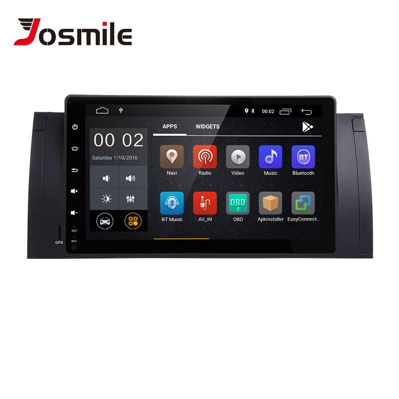 Josmlie 1 Din Android 8.1 radio gps Pour BMW E39 BMW X5 E53 M5 Multimeida Navigation SANS DVD Audio StereoIPS Tactile le site de Unité