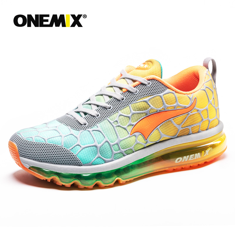 ONEMIX Men Running Shoes Air 270 Athletic Trainers Navy Zapatillas Sports Shoe Max 95 Cushion Outdoor