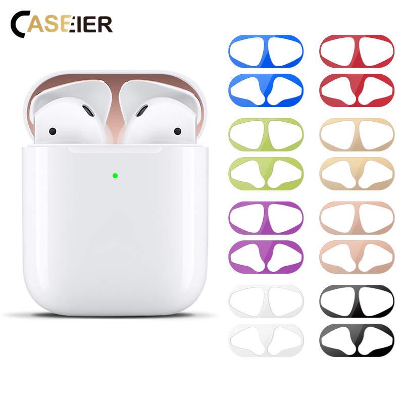 CASEIER Wireless Models Dust-proof Mental Sticker Scratchproof For Headphones 2 Dust Sticker Anti-dirty For Bluetooth Earphone