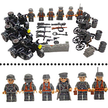 WW2 Action Figures with Weapons Guns Accessories Building Blocks Military Soldiers Bricks Set Compatible LegoINGlys Kids Toys guerre moderne lego