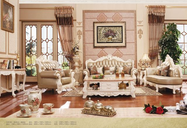 Royal Living Room Furniture. European style 1 royal  3 seater full leathersofa set living room furniture luxury