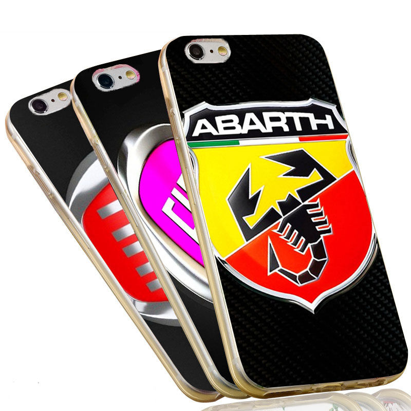 For Iphone Case Fiat Car Logo Print Anti Knock Phone Case For Iphone