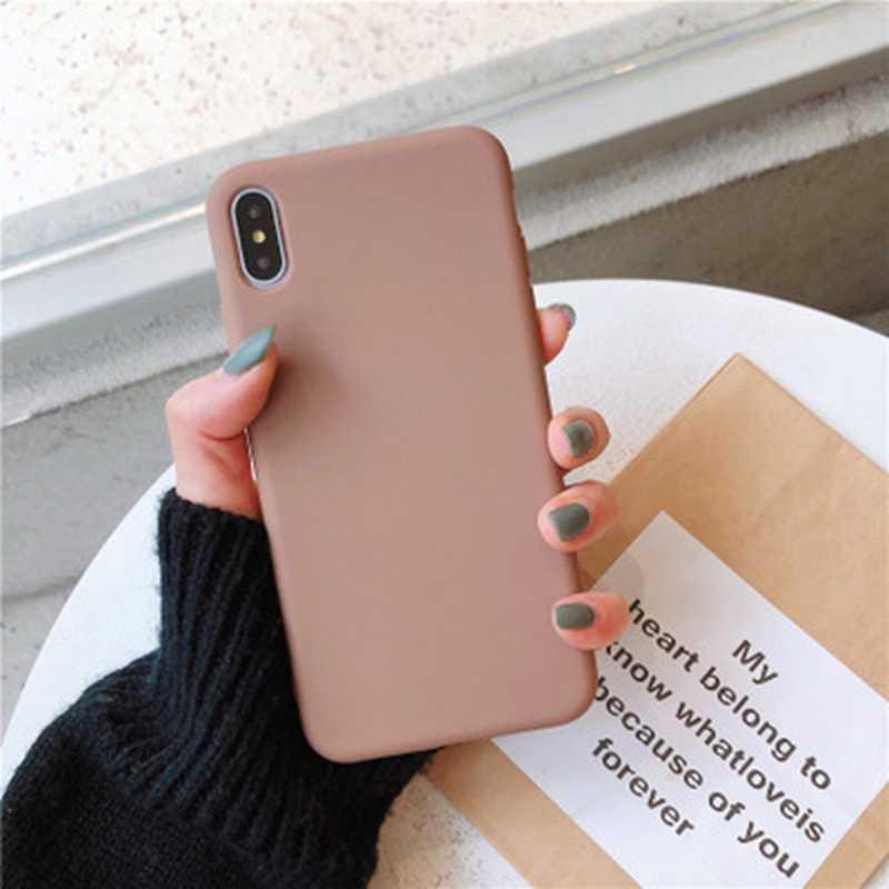 Para funda de teléfono de pareja de Color sólido de silicona Original de lujo de Apple para iphone XS MAX XR X 10 6 6 funda de Color caramelo S 7 8 Plus