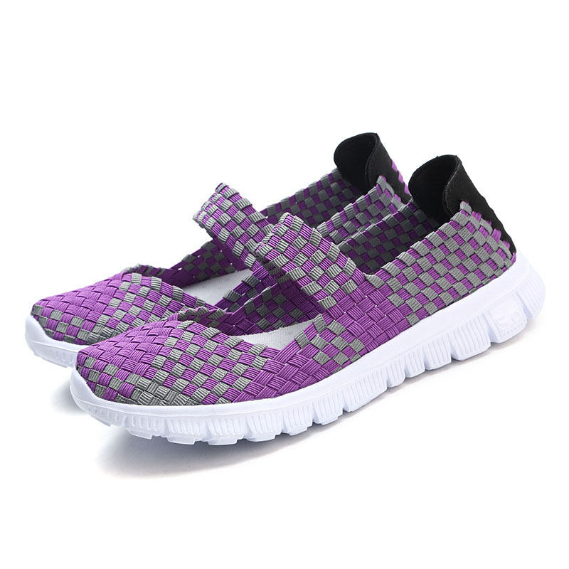 Women flats 2018 Walking fashion New Arrivals Woman casual shoes Breathable Weaving women summer shoes 2017 brand new women casual shoes summer breathable walking shoes low net surface flats fashion loafers 4 colors bc 03