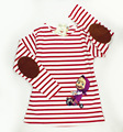Cartoon Masha And Bear T-shirts For Girls Long Sleeve Striped Girls T Shirt Masha And Bear Clothing For Spring Autumn