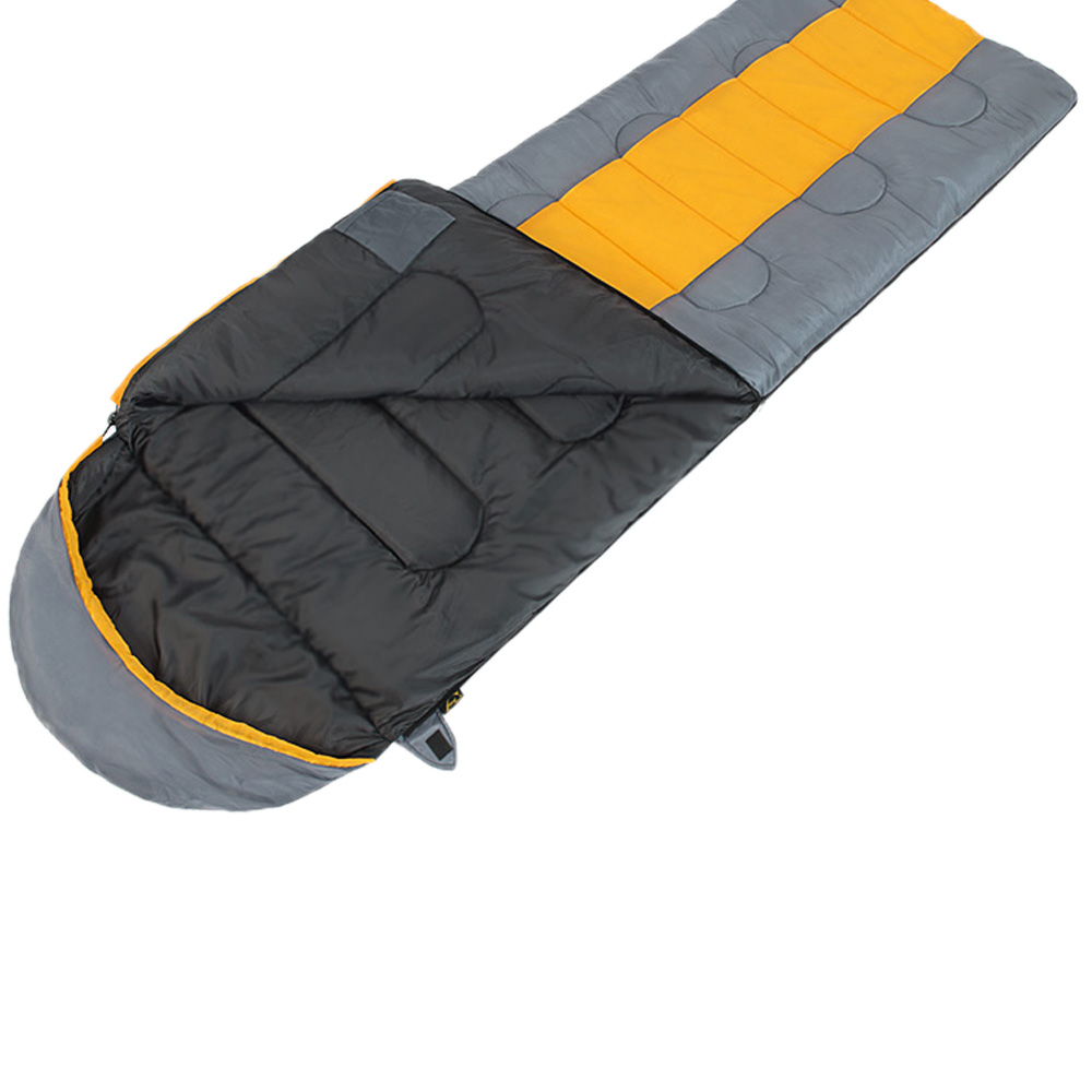 Wind Tour Outdoor Camping Thermal Sleeping Bag Winter Envelope Hooded Bags Travel Thick Sleep Saco De Dormir In From Sports