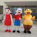 1pcs high quality Doraemon Gouda Takeshi Nabita Nobi Minamoto Shizuka frame EVA with Plush Mascot Costume in box via EMS.