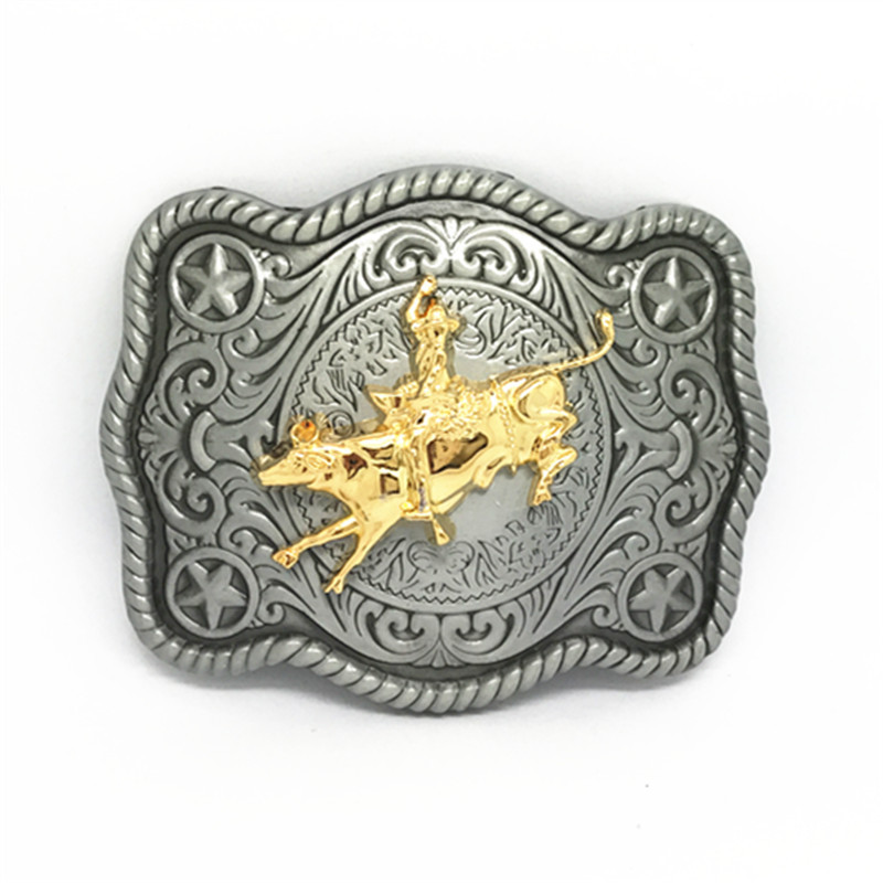 The Western Cowboy Belt Buckles The Bull-riding Belt Buckle Suitable For The 3.8CM Belt