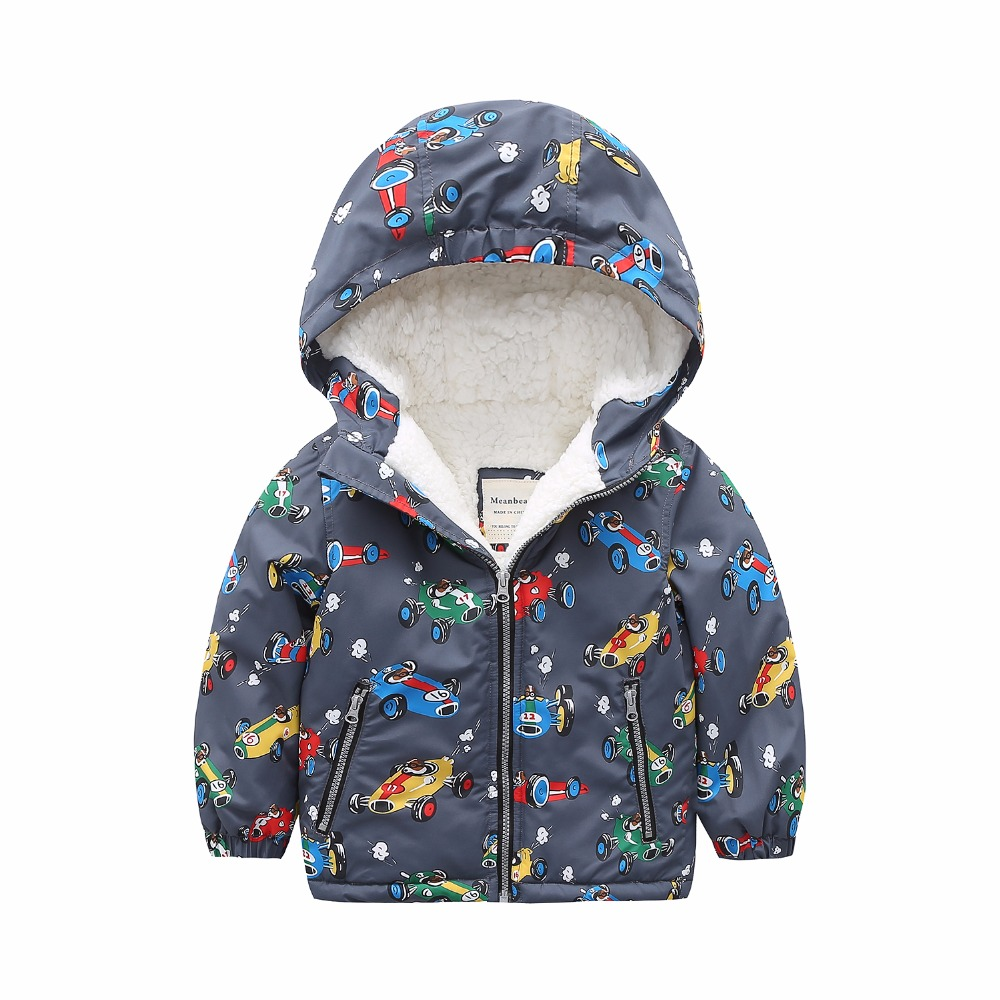 M86 Fashion Cartoon Printing Winter Cotton Chirden Thicken Padded Lining Jacket Hoodies Keep Warm Boys Girls Coat Tops Outwear m43 spring autumn winter child thicken padded lining jacket hoodies boy
