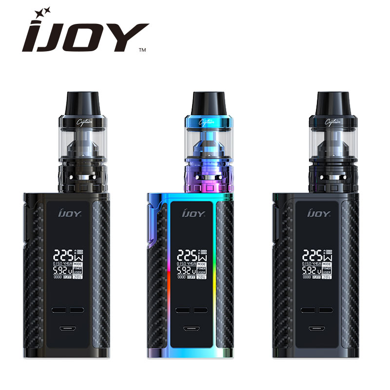 Original  IJOY Captain PD1865 TC 225W Kit Captain Tank 4ml Atomizer No 18650 Battery Captain PD1865 MOD E Cigarette Vaping Kit original ijoy captain pd1865 with wondervape rda tc kit bottom airflow rda tank 225w captain pd1865 box mod e cig huge vape kit