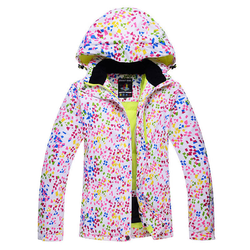 Cheaper woman Snow jackets skiing Clothing snowboarding jackets windproof thermal outdoor coats winter warm costumes dots style