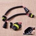 Novo Plástico PVC & Nylon 2 pcs 9006 9012 HB4 Extensão Cablagem Soquete Plugue Fio para Farol da Luz de Névoa