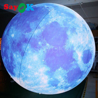 3m(10ft) Giant advertising PVC inflatable light helium balloon inflatable moon globe ball for sale