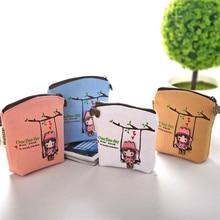 Купить с кэшбэком 1Pcs Lovely Coin Purses Portable Mini Women Wallets Card Holder Key Bag Money Bags for Girls Ladies Purse Free Shipping